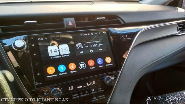 Hình ảnh thực tế màn android Toyota Camry 2019-2020